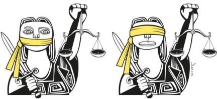Caricature justice et injustice