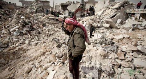 Alep - Les destructions affectent à présent les parties les plus anciennes et les plus chargées d'histoire de la ville - Photo : AFP