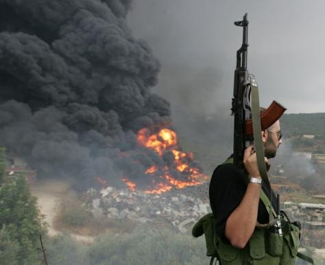 Combattant du Hezbollah au Liban
