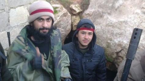 Photo d'archives de combattants étrangers en Syrie