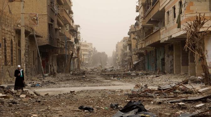 La reconstruction des infrastructures par l'Armée Arabe Syrienne