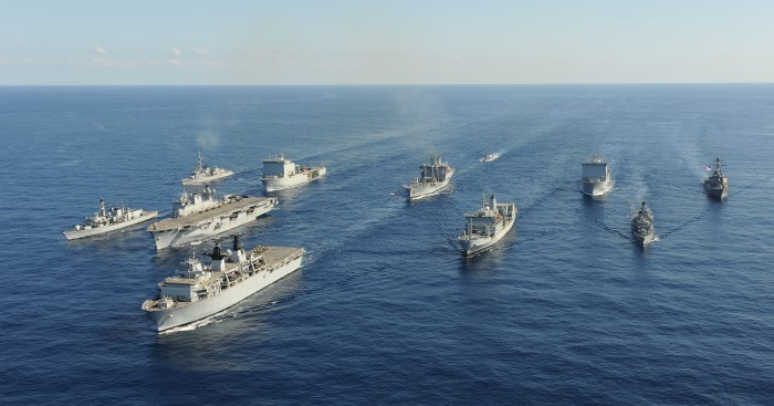ROYAL NAVY TASK GROUP FLEXES ITS MUSCLES IN THE MEDITERRANEAN