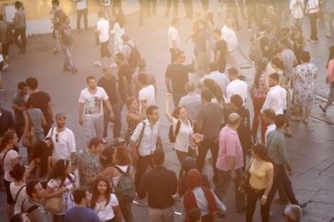 Les manifestants à Istanbul.
