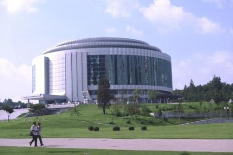 L'un des nombreux théâtres de Pyongyang.