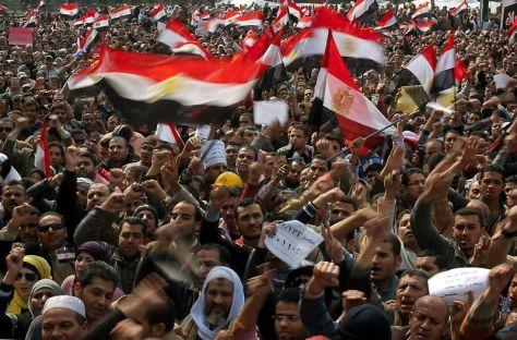 Place Tahrir, au Caire