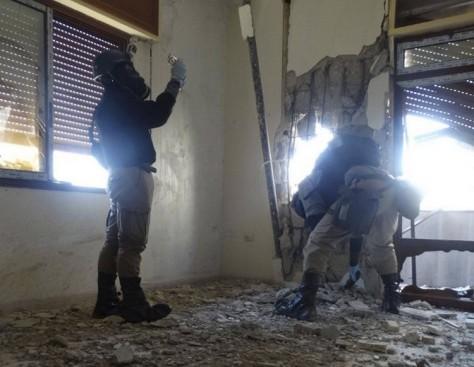 Inspecteurs des Nations Unies dans les faubourgs de Damas