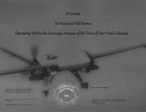 Le permis de chasseur de drone