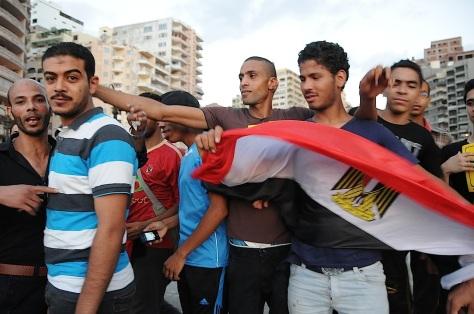 Les visages des Frères musulmans à Alexandrie.