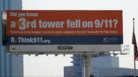 Rethink911.org panneau d'affichage à Dallas.
