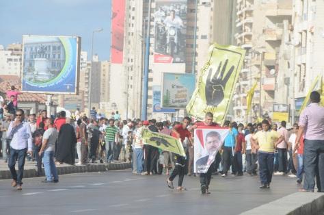 L'émeute des Frères musulmans à Alexandrie.