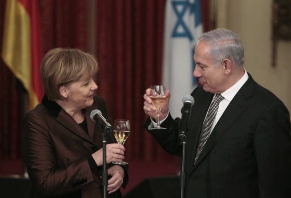 Netanyahu and Merkel in Jerusalem