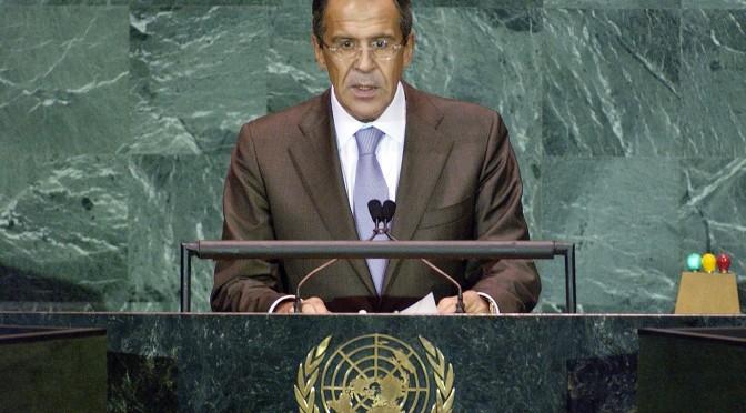 Sergueï Lavrov : « La résolution adoptée sur la Syrie ne permet pas la moindre ambiguïté »