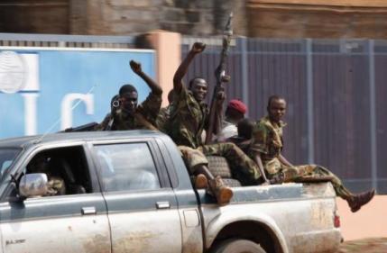 Des membres de la Séléka, à Bangui, le 5 décembre 2013