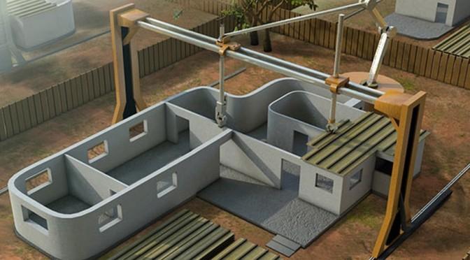 Construire une maison en 24 h avec une imprimante 3D géante
