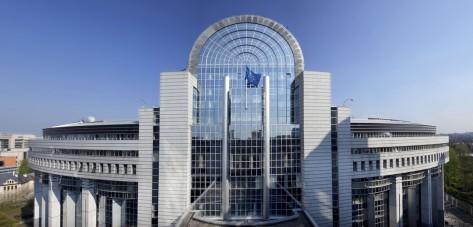 """Le """"Caprice des dieux"""", un des bâtiments du Parlement européen à Bruxelles"""