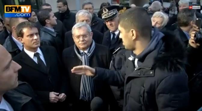 Valls interpellé à Aulnay: «la prochaine fois ce serait bien de venir avec Michel Sapin»