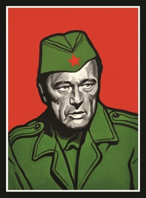 """Tito-Burton, par l'artiste né en Bosnie Damir Nikšić, faisant partie de son exposition """" Théologie de la libération bosnienne """", Sarajevo 2011"""