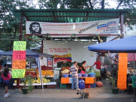 Un marché dans un Barrio de Caracas